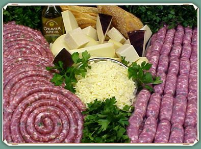 Cheese Parsley Sausage links